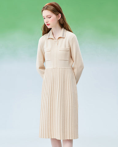 Knitted dress 2019 winter new loose Korean version of small student sweater skirt