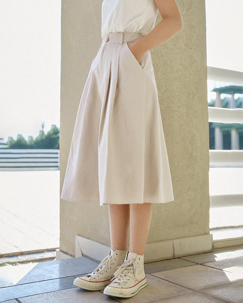 KUOSE High Waist Casual Skirt