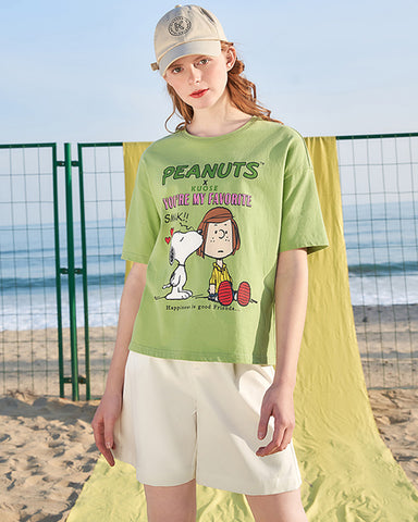 KUOSE Cartoon Printted Loose T-Shirt