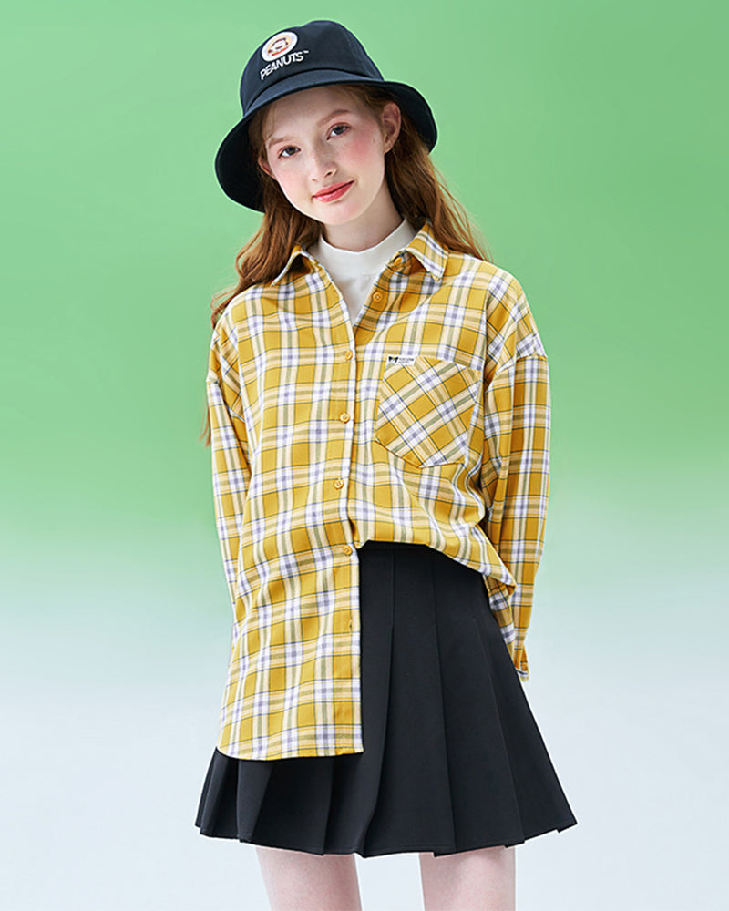 KUOSE Plaid Casual Blouse For Women