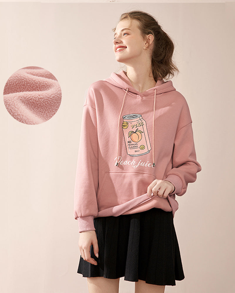 KUOSE Soda Print Hooded Sweatshirt