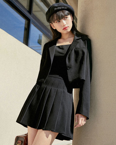 KUOSE Black Short Suit