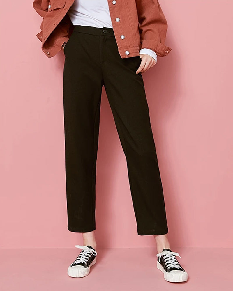 KUOSE Straight Loose ankle-length Casual Pants