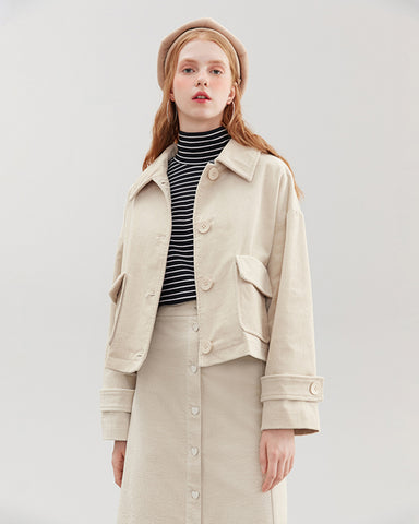 KUOSE Corduroy Loose Women's Coat