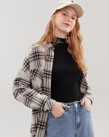 KUOSE Fashion Plaid Shirt