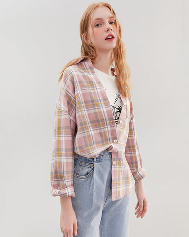KUOSE Women's Plaid Shirt