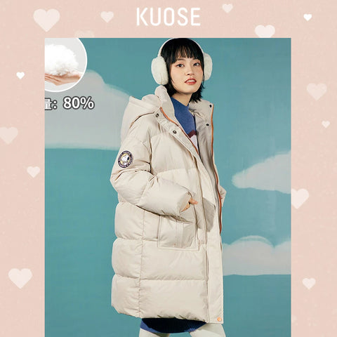 KUOSE Girl Fashion Solid Color Coat