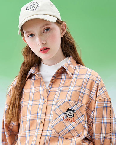 Plaid Shirt women's new design sense Plaid casual shirt in 2019 winter