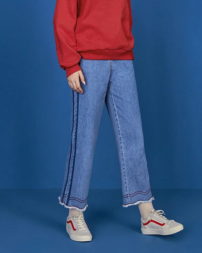 KUOSE Korean Retro Straight Jeans