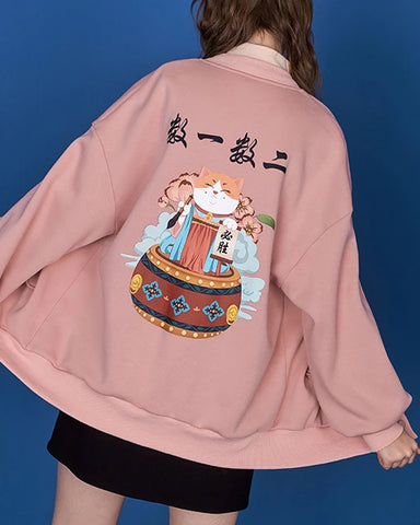 Chinese Style New Year Printted Cardigan