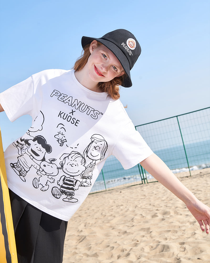 KUOSE Comic Printed Casual Loose T-shirt