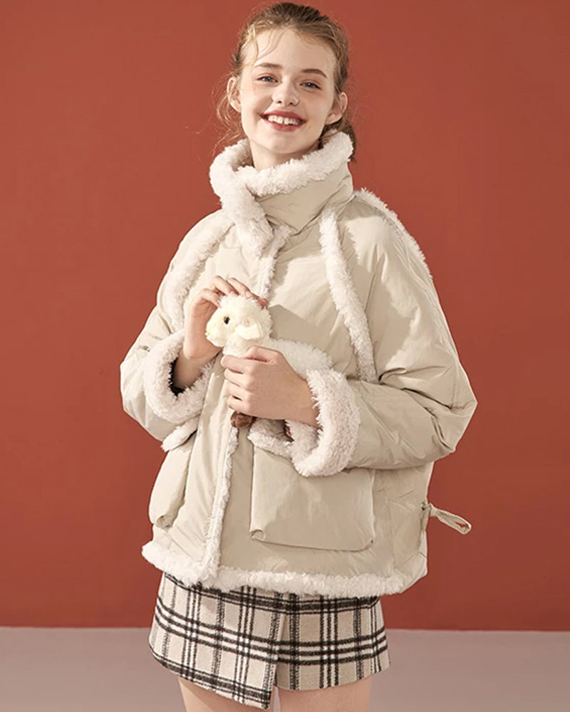 KUOSE Plush Baggy Down Jacket