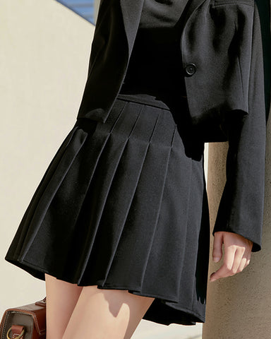 KUOSE Black High Waist Skirt