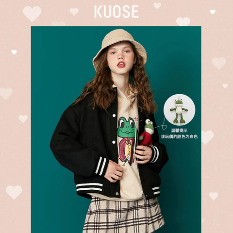 KUOSE Baseball Style Loose Jacket