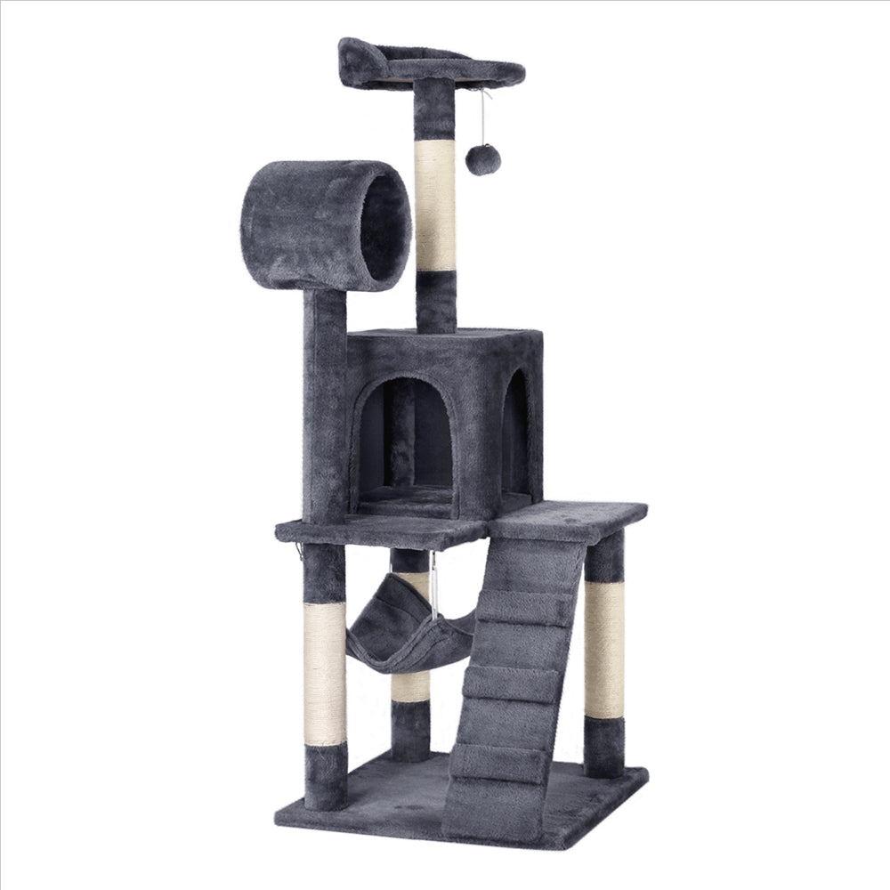 51-inch Cat Tree w/Top Perch & Tunnel