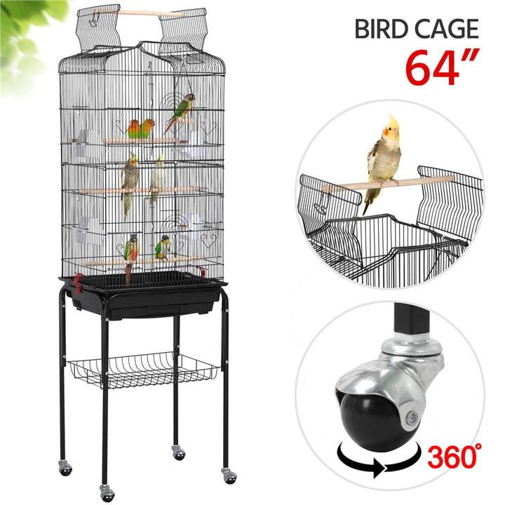 Pawscoo Parakeet Cage 64 Inch