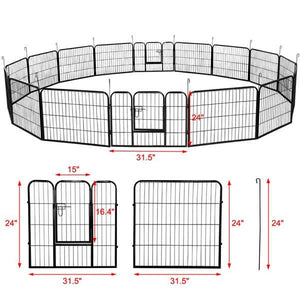 24-inch 32 Panels Dog Playpen