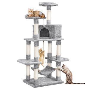 Pawscoo Cat Tree Condo Pet Play House 58.5 Inch