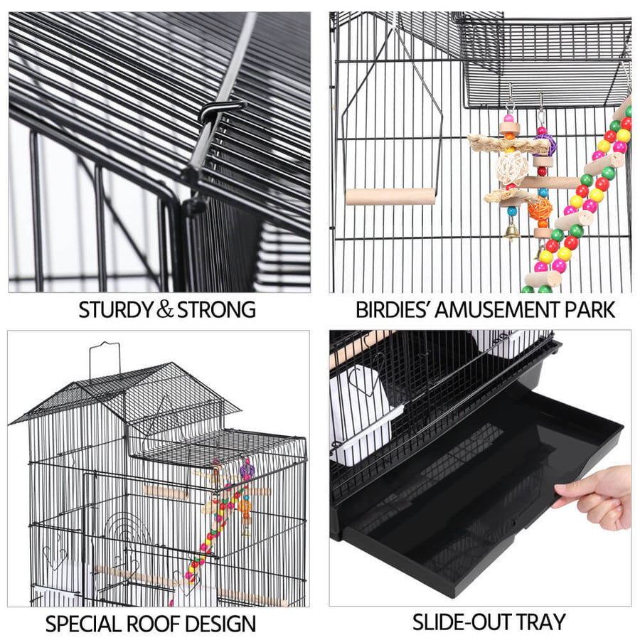 Pawscoo Parrot Cage 39 Inch