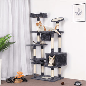 Pawscoo 62-inch Large Cat Tree Tower Condo - Pawscoo