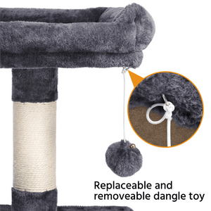 Pawscoo 58-inch Luxurious Multi-Level Cat Tree Condo