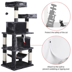 Pawscoo Cat Tree Tower 57 Inch