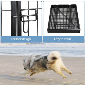 Pawscoo 40-Inch 8 Panel Dog Playpen - Pawscoo