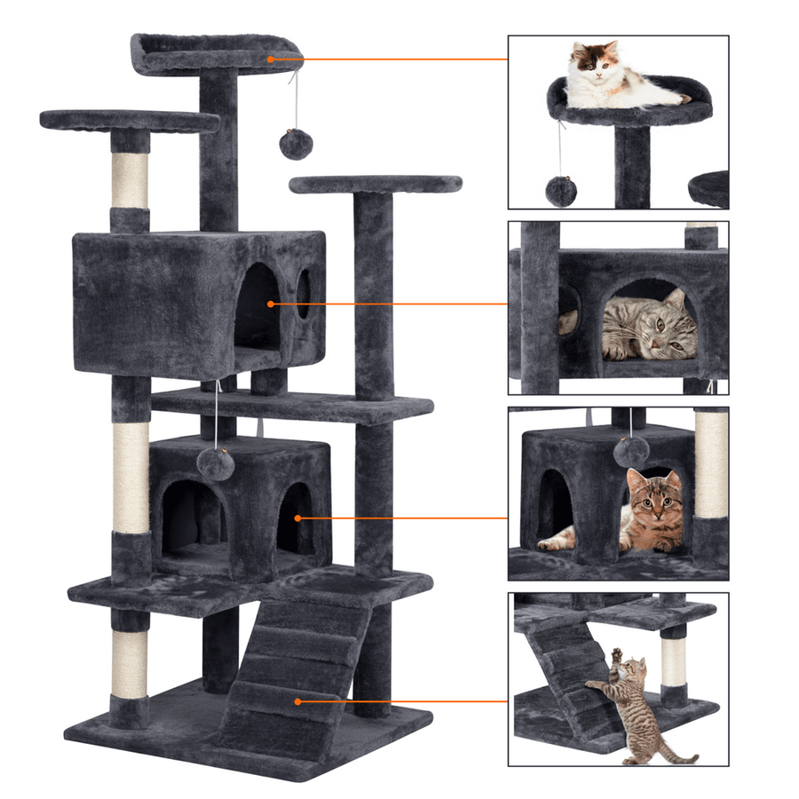 Pawscoo 51-inch Kitten Tree Tower - Pawscoo
