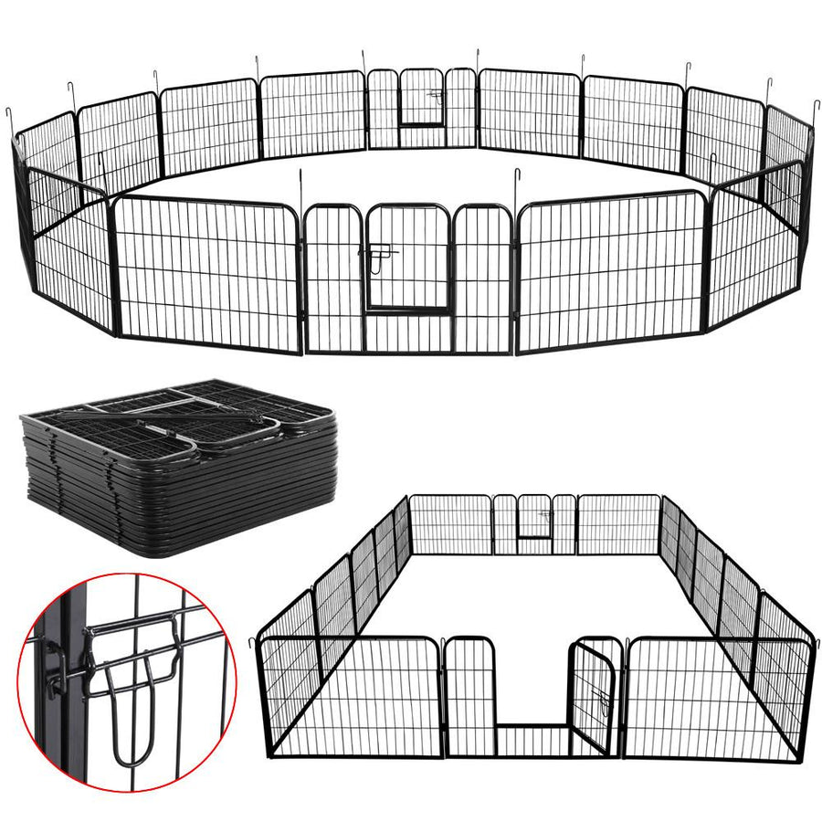 Pawscoo 24-inch 16 Panels Dog Playpen - Pawscoo