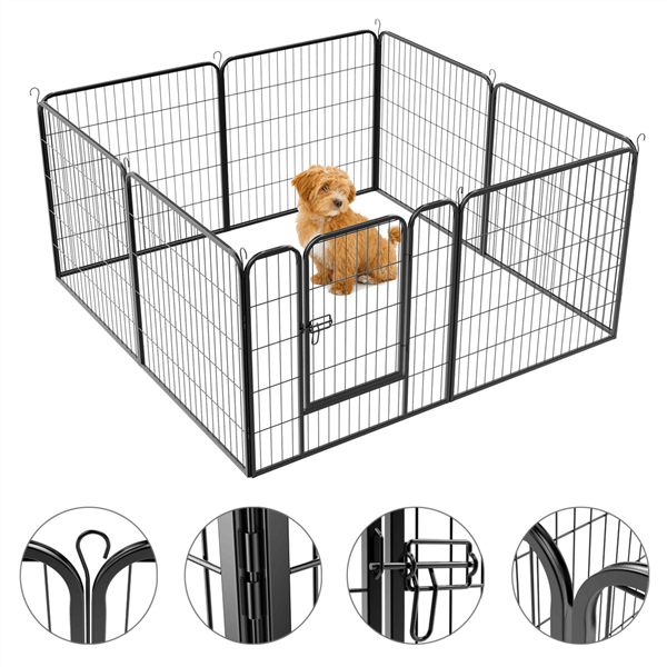 Pawscoo 32-inch 16 Panel Dog Playpen - Pawscoo