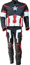 Classyak Men Ultron Captain Real Leather Motorbike Suit