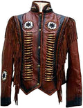Classyak Women's Cowgirl Boned, Beaded and Fringed Coat