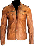 Classyak Men's Fashion Real Leather Jacket