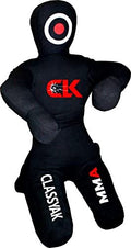 Classyak MMA Jiu Jitsu Martial Arts Training Wrestling Black Sitting Position Punching Bag - Unfilled