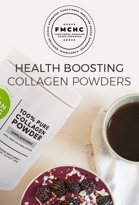 Amino acid collagen powders can be added to any beverage for joint support, gut health and healthy skin, hair and nails.