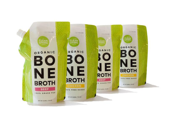 Bone Broth (4 x 500ml Pouches) Fresh not frozen