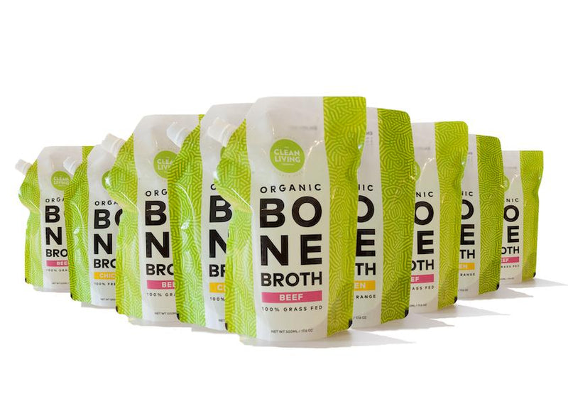 Bone Broth (16 x 500ml Pouches) - 8 Litre Package (fresh not frozen)