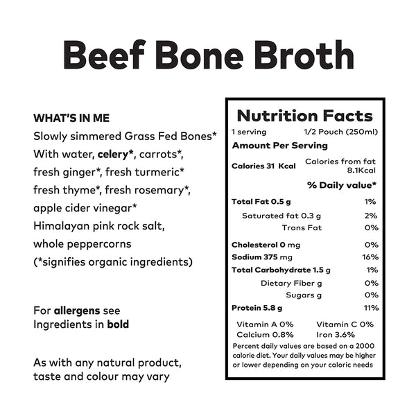 Clean Living Company Bone Broth - 2 Litre Package (fresh not frozen)