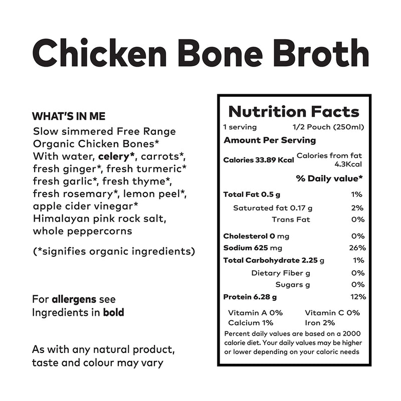 Clean Living Company Bone Broth - 8 Litre Package (More than 32 Portions, fresh not frozen)