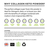 Clean Living Company Keto Collagen Powder (MCT Blend), Chocolate Flavour - 340g