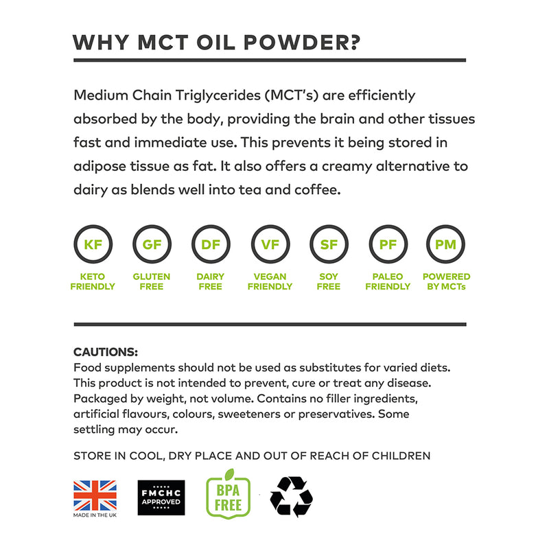 Clean Living Company MCT Oil Powder - 170g