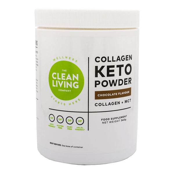 Keto Collagen Powder (MCT Blend), Chocolate Flavour - 340g