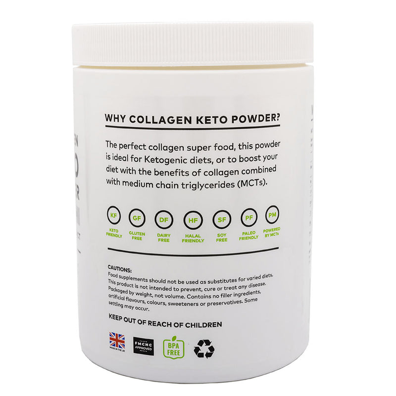 Clean Living Company Keto Collagen Powder (MCT Blend), Unflavoured - 340g