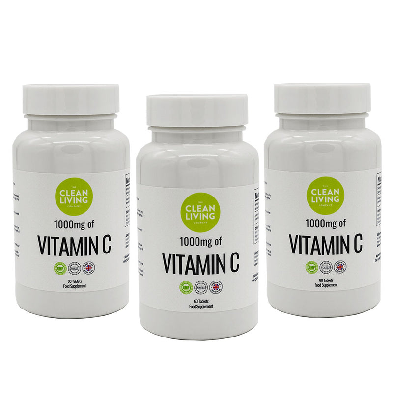 Clean Living Company Vitamin C Supplements (Pack of 3) Save 15%