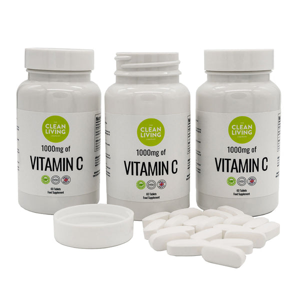 Clean Living Company Vitamin C Supplement – 1000 mg x 60 tablets