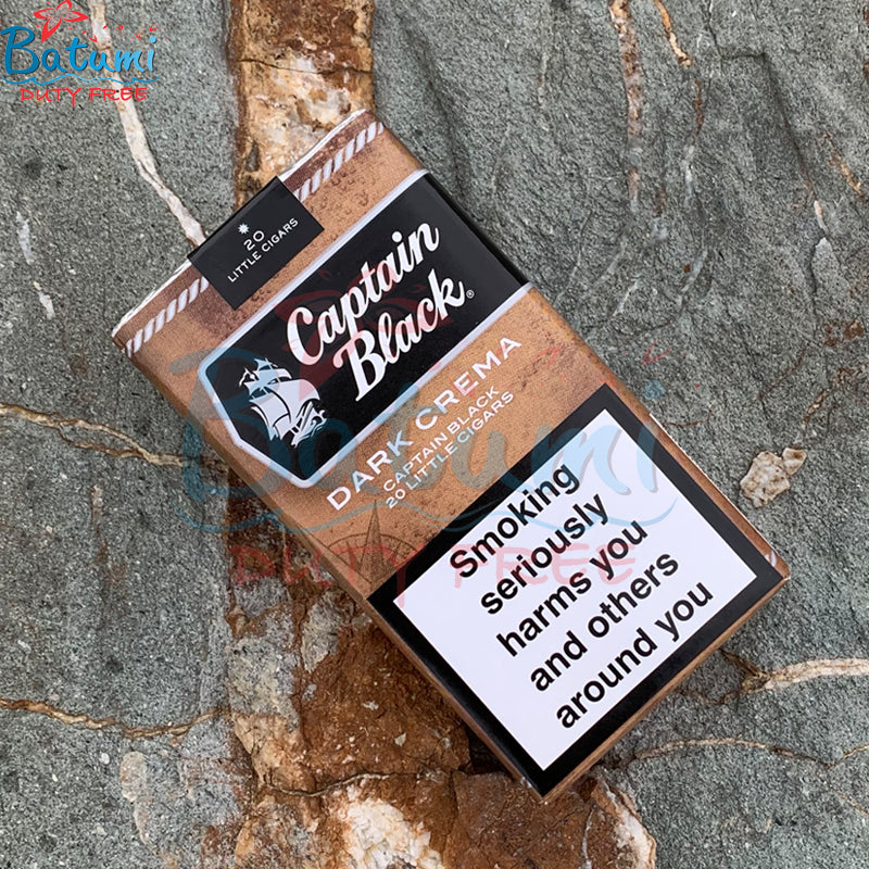 Captain Black Little Cigars Dark Crema online for sale duty free price