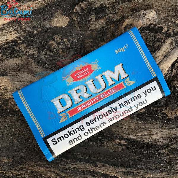 Drum Bright Blue 50g hand rolling tobacco online for sale uk usa europe