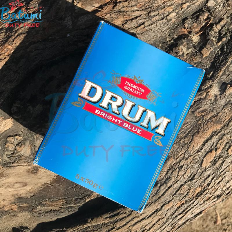 Drum Bright Blue 5x50g 250g pouches hand rolling tobacco online for sale uk usa europe
