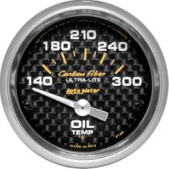 Autometer Mechanical Oil Temperature Gauge Carbon Fiber Marine