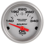 Autometer Mechanical Oil Temperature Gauge Ultra Lite Marine